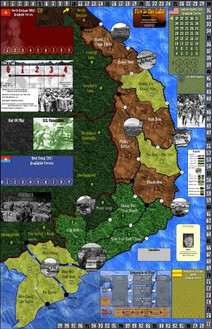 Playtest map (copyright GMT Games)