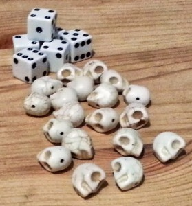 The Quiet Year - just regular dice, but those contempt tokens really add to the mood.