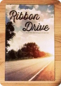 Ribbon Drive rulebook: a slim, understated volume.