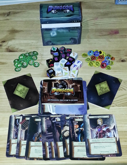 Dungeon Roll: lots of stuff in a tiny box!