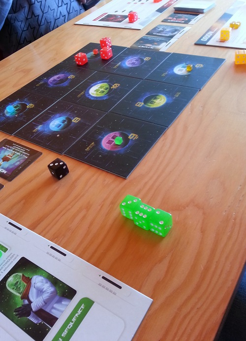 Quantum - setting up for a 4 player game