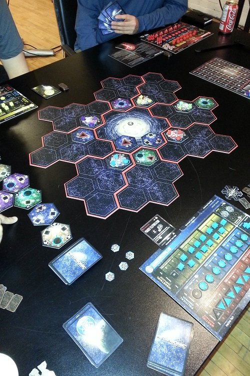 Hegemonic - The start of a 5 player game