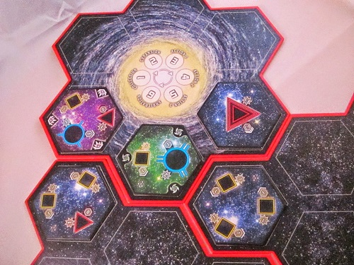 Hegemonic - The galaxy boards and Sector tiles