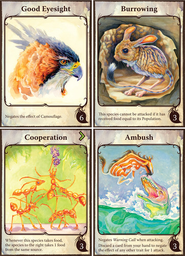 Evolution - Trait cards