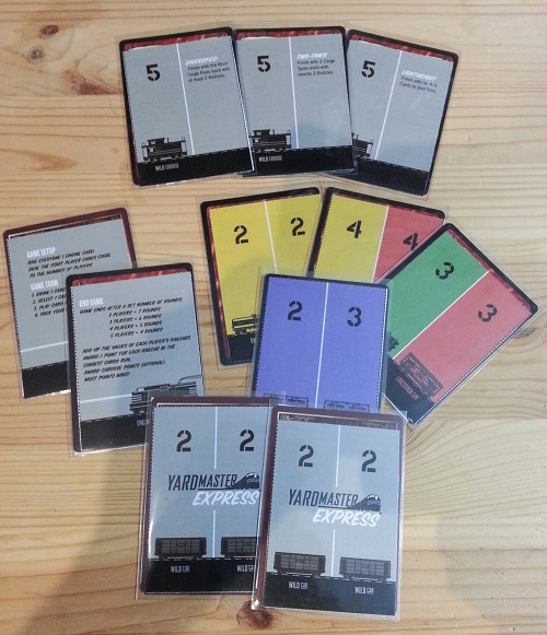 Yardmaster Express: the cards, showing the card backs as well
