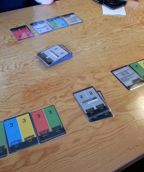 Yardmaster Express - 3 player game. Barely had the time to take the photo...