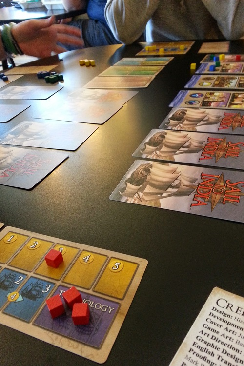 Sail to India - Not a lot on the table, but lots in player's brains