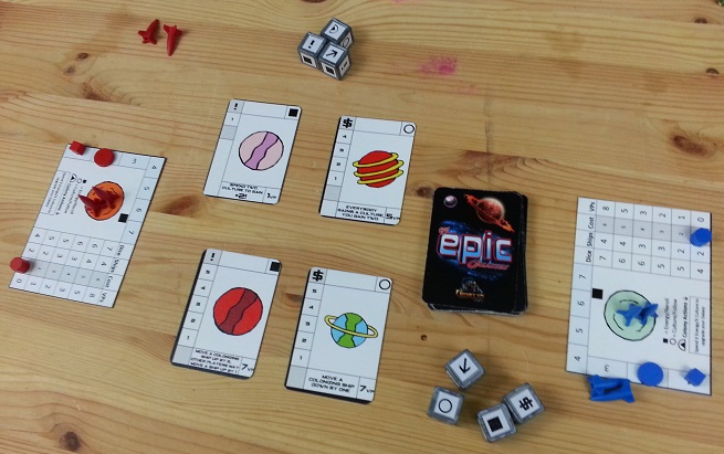 Tiny Epic Galaxies - All set up for a two player game