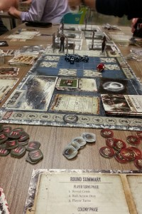 Dead of Winter - Everything was quiet. You could almost hear one player trying to stab the others in the back...